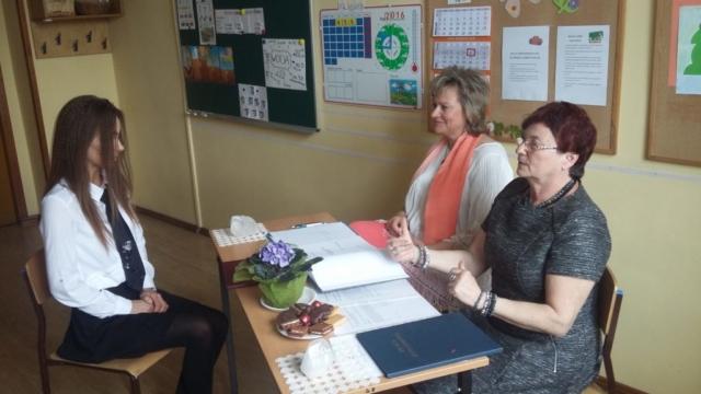 Komisja egzaminacyjna w składzie: Irena Nawrocka, Danuta Trzebińska-Kapczyńska, Romuald Kosznik
